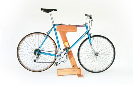 Bike maintenance stand.