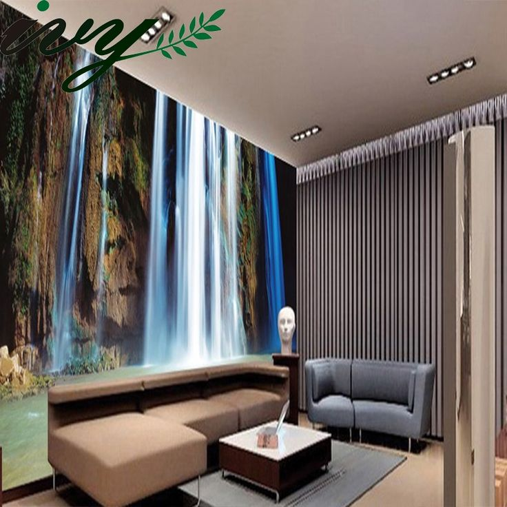15.00$  Buy now - http://ali078.shopchina.info/1/go.php?t=32476589476 - 3D Wallpaper for Walls Customized Morden Style Waterfall Mural for Bedroom TV Set Living Room papel de parede 3D Flooring    #magazine