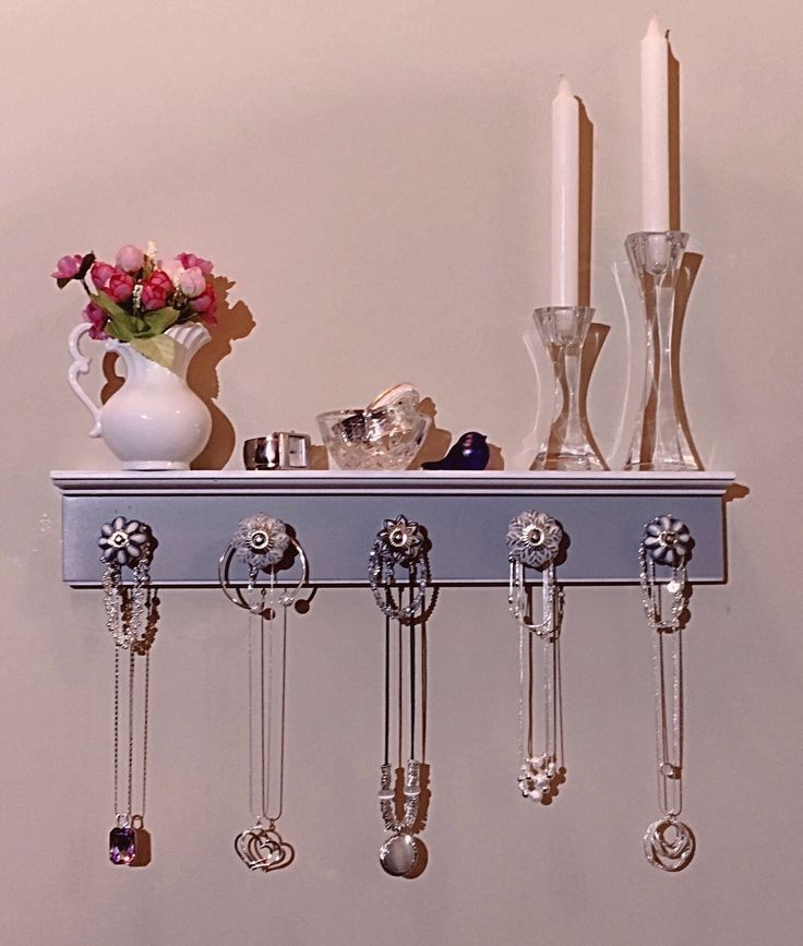 1000 ideas about wall mount jewelry organizer on for Bathroom jewelry holder