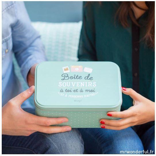 Boite à souvenirs Mr Wonderful - Lilie dans les étoiles - Web Shop so cute