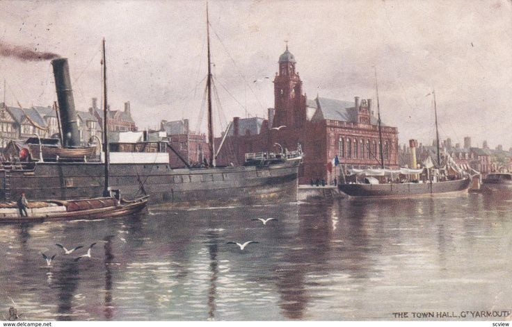 TUCK #7143; GREAT YARMOUTH, Norfolk, England, United Kingdom; The Town Hall, PU-1904