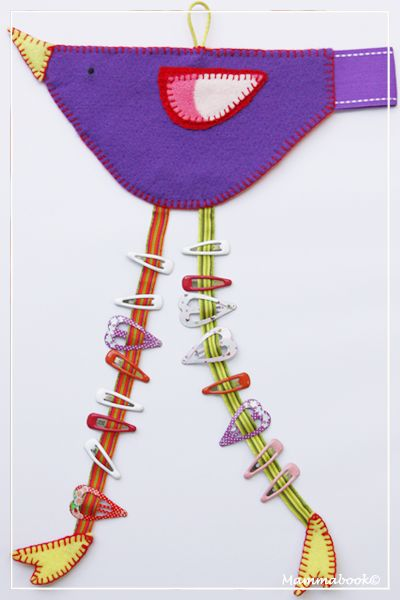 Hairclip holder bird (partially recycled) - Uccellino portamollette (parzialmente riciclato)