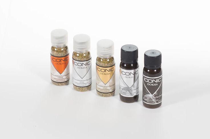 ICONIC Dokha Tobacco Blends:   Copper, Silver, Gold, Platinum, Black Lable