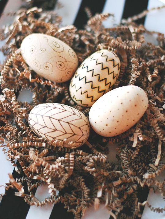 DIY Woodburned Eggs
