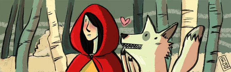 Little red riding hood and the wolf! <3