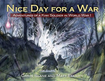 2012 Children's Book of the Year and Non Fiction Awards winner: A story based on fact of a Kiwi lad as he heads away, full of excitement, to war with his mates from rural New Zealand. This is primarily based on the diary of Matt's Grandfather, and postcards he had sent home to the family. It also draws on published histories of the Kiwi military in WW1. The book aims to capture what the new experiences of war were like for the young soldiers, and succeeds superbly.