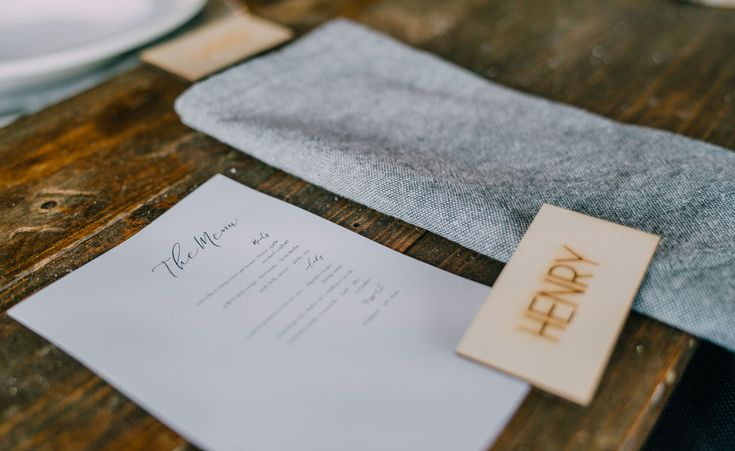 Grey napkins.  Adorn Event Styling @Tailrace Centre