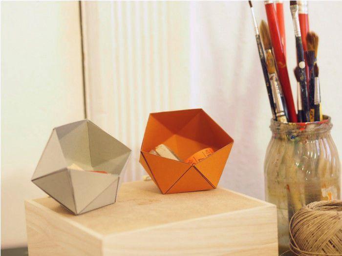 DIY-Anleitung: Geometrische Papierschachtel falten via DaWanda.com