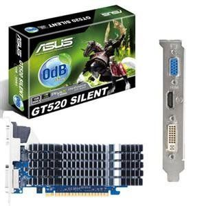 Asus US, GeForce GT520 VGA card (Catalog Category: Video Cards / Video Cards- PCI-e nVIDIA) by Asus. $74.49. Asus US, GeForce GT520 VGA card (Catalog Category: Video Cards / Video Cards- PCI-e nVIDIA) ASUS/NVIDIA GeForce GT 520. PCI Express 2.0. GDDR3 1GB. Engine Clock 810 MHz. Shader Clock1620 MHz. 1.2 GHz ( 600 MHz DDR3.) RAMDC 400 MHz. Memory Interace 64-bit. D-Sub Max Resolution : 2048x1536 DVI Max Resolution : 2560x1600. D-Sub Output : Yes x 1. DVI Output : Yes x 1 (DVI...
