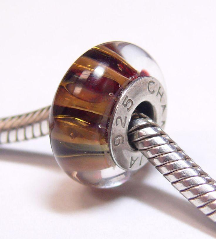 Authentic retired chamilia jewelry 24k gold collection safari gold glass 2116 00 chamilia - Safari murano jewelry ...