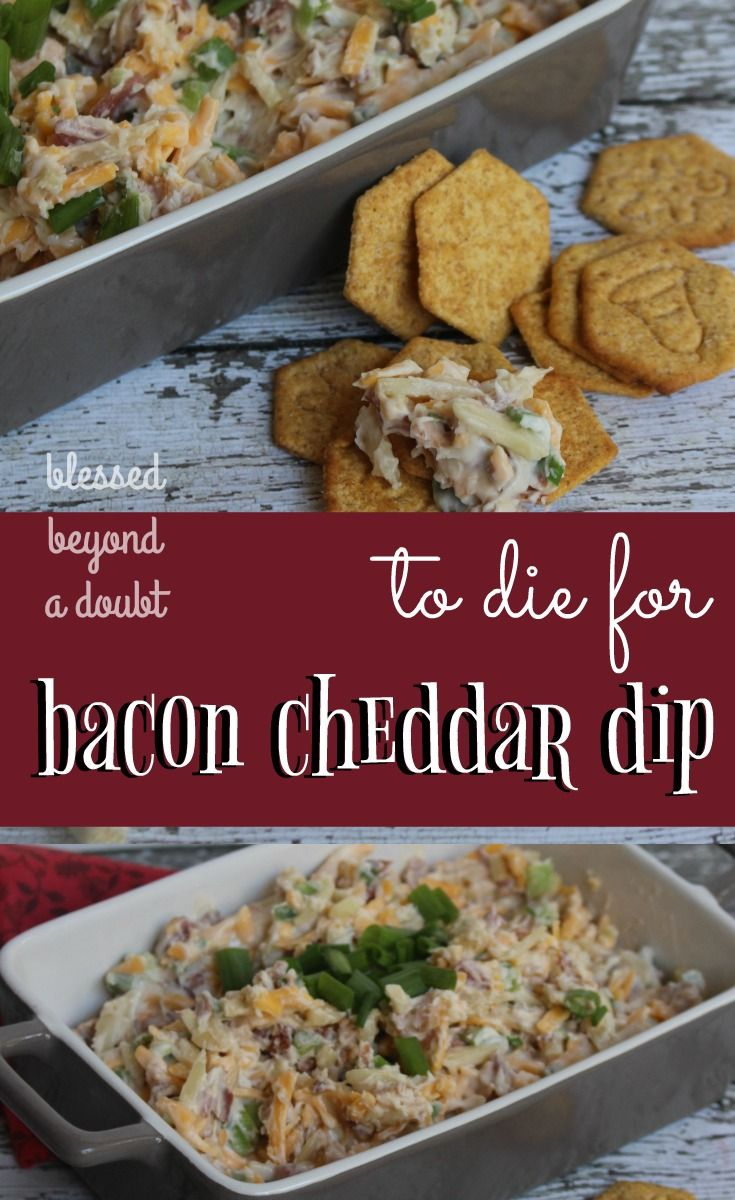 This easy bacon cheddar dip recipe takes literally minutes to prepare. It's so flavorful in every bite. It's a crowd pleaser.