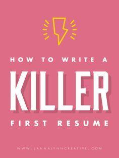 how to write a killer resume feminine
