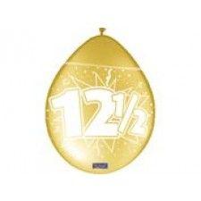 Ballonnen koperkleurig met cijfer 12,5. Koperkleurige ovaalvormige ballonnen van 30 cm verpakt per 8 stuks. Deze latexballonnen zijn bedrukt met het getal 12,5. Zeer mooie ballonnen voor de aankleding van een koperen bruiloft en een 12,5-jarig jubileum