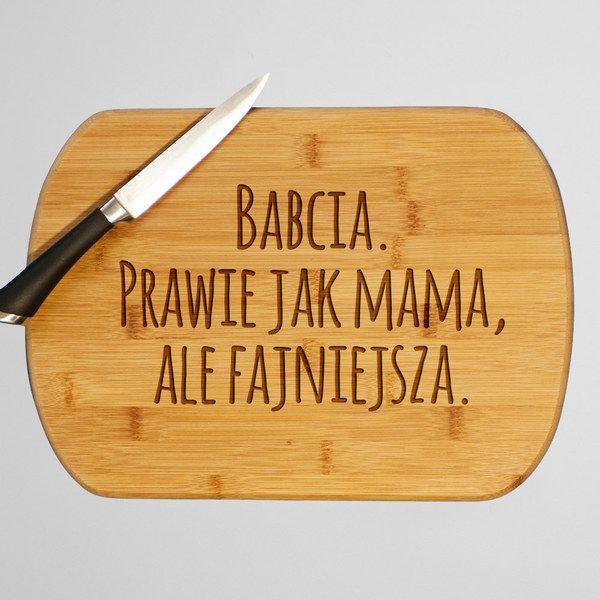 Babcia lepsza od mamy- drewniana deska do krojenia w artiglo na DaWanda.com