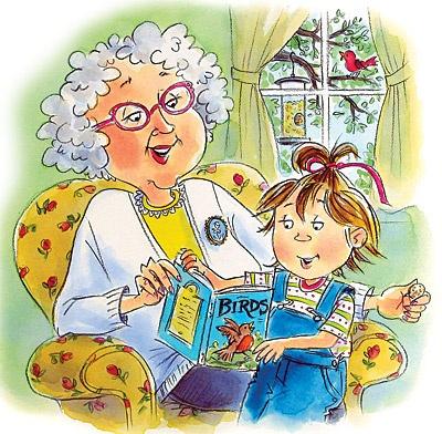 Granny and her grandchild enjoying a book❤️