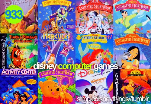 I remember these, they were so fun, I had almost all of these except Mulan game and the lion king game in the lower right corner.