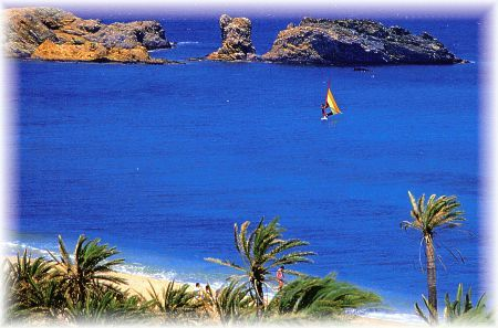 Exotic beach in Vai Crete