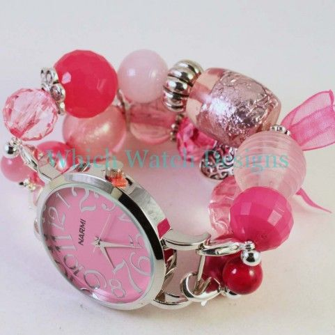 Shabby Chic Pretty in Pink Watch Band - Which Watch Designs