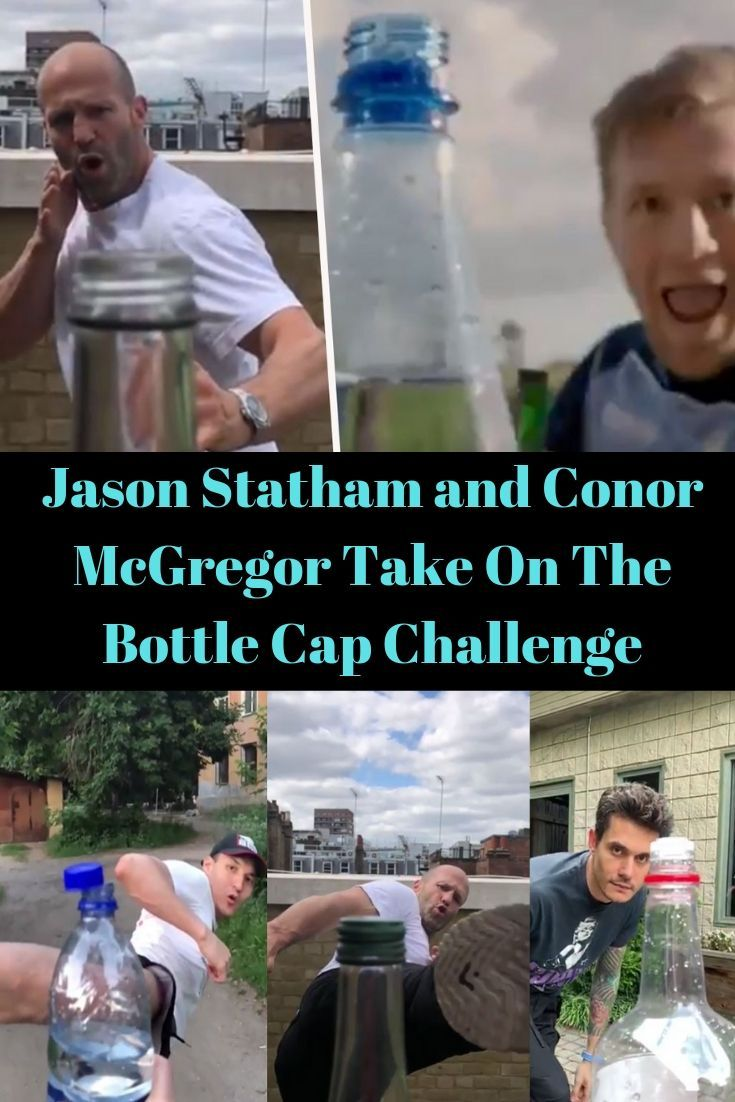 Jason Statham And Conor Mcgregor Take On The Bottle Cap Challenge Fun Facts Shocking Facts Weird World
