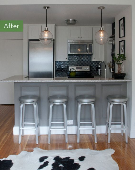 Before And After A Tiny Kitchen Gets Drastic Makeover