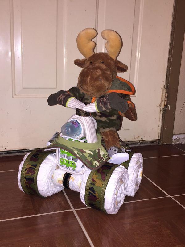 Moose On A Diaper 4 Wheeler It S A Boy Pinterest