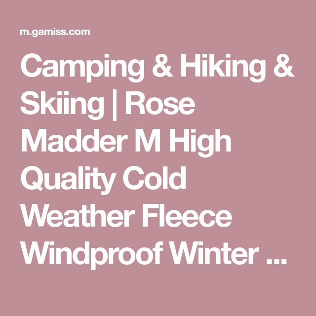 Camping & Hiking & Skiing   Rose Madder M High Quality Cold Weather Fleece Windproof Winter Touch Screen Gloves for Smart Phone - Gamiss Mobile