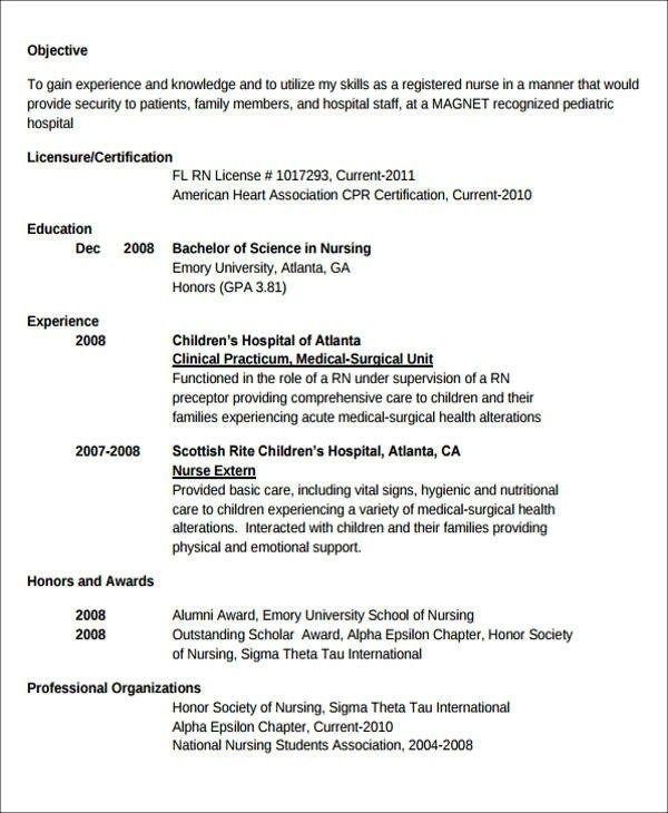 free 7 sample new nurse resume templates in ms word pdf in
