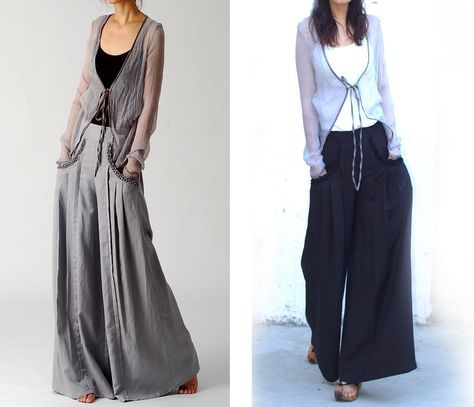 Inspired from Taiwan modern dance troupe's master piece – Water Moon, a flowing skirt design of shaped pants. The pockets are designed to visually slim your hips and more feminine. The pleats are adde
