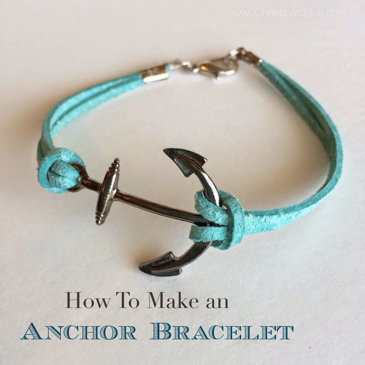 How to make an Anchor Charm Bracelet http://www.chalkboardblue.com/2014/07/how-to-make-anchor-charm-bracelet.html