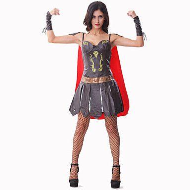 bordado caliente de la PU de los soldados romanos se visten gladiadores traje de halloween – USD $ 44.99