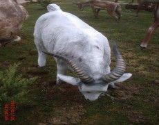 Grazing Goat Statue