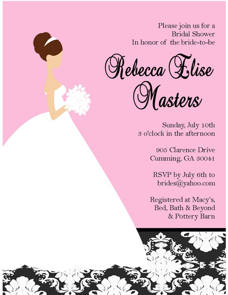 27 best bridal shower invitations images on Pinterest Boyfriends - free bridal shower invitation templates for word