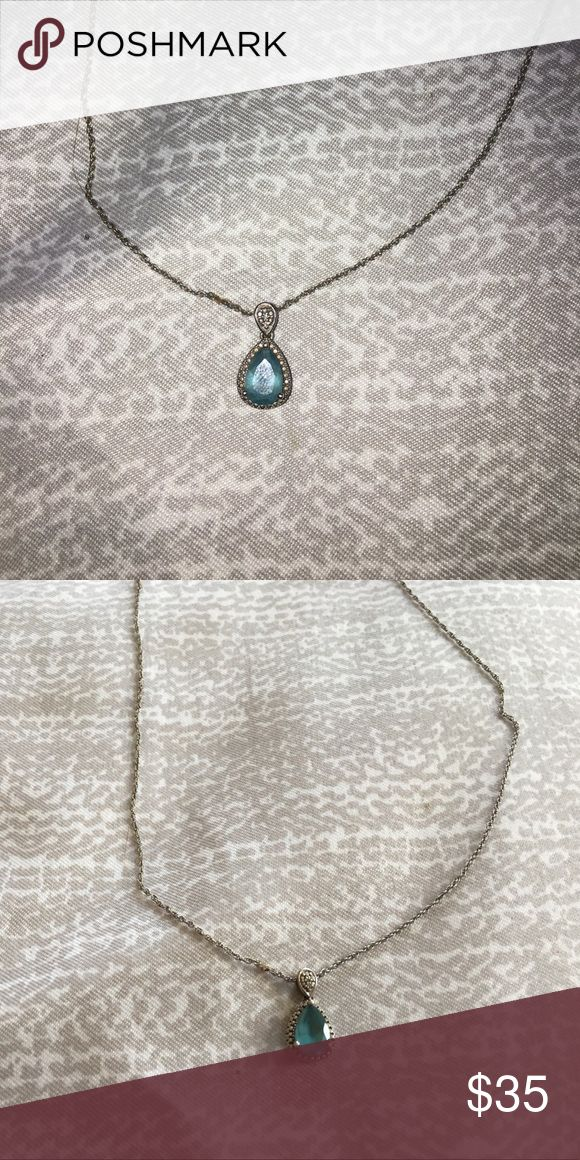 Blue topaz necklace Blue topaz necklace, guessing how much it costed because it was a gift Jewelry Necklaces