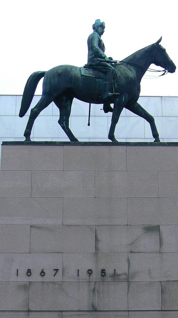 Statue of Mannerheim, Helsinki, Finland * http://en.wikipedia.org/wiki/Carl_Gustaf_Emil_Mannerheim