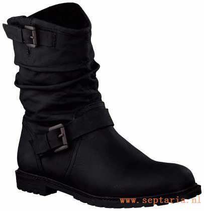 Spm Korte Zwart Laarzen Ka12252729 - Ka12252729-b-003 zwart
