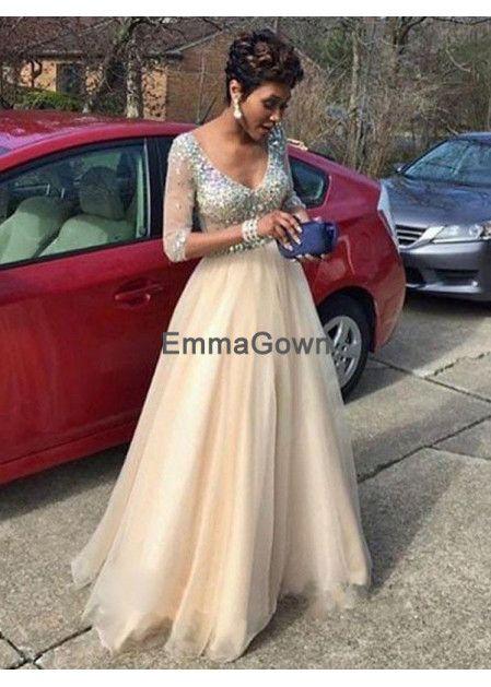 e18d7fe5c7 Emmagown Champagne Long Prom Evening Dress T801524703874 | Fabulous ...
