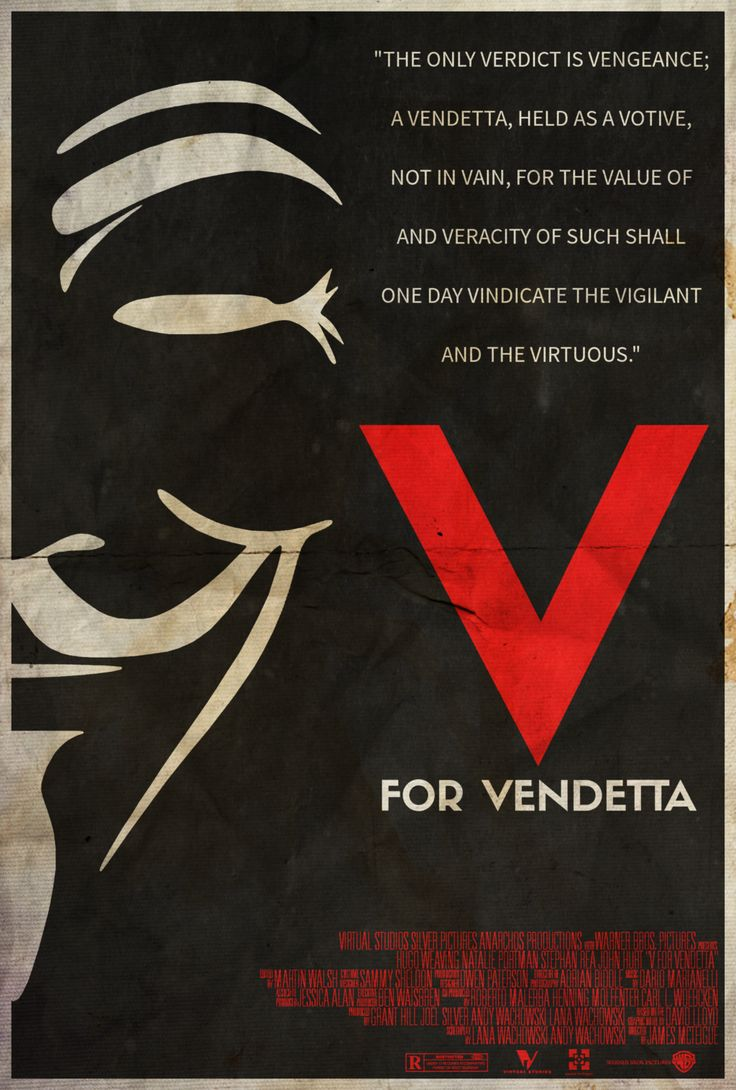 They Should Be Afraid - V for Vendetta Poster by Edwin Julian Moran II