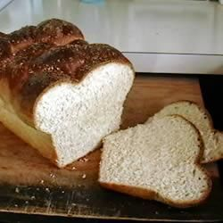 Pão chalá na máquina de pão