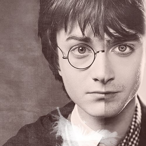I think i want this to be my next art project.   Daniel Radcliff as Harry Potter then and now.