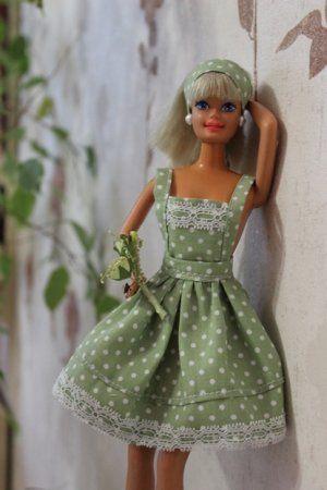 Vestido de verão de algodão de Barbie - uma master-class detalhada