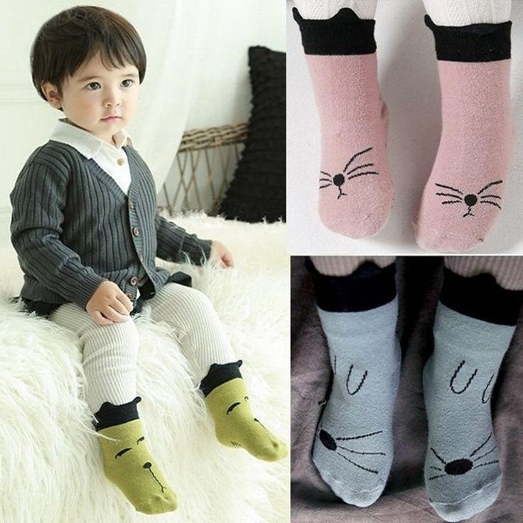 Dog cat socks stereo Korea new autumn and winter children's cartoon baby socks Non Slip Socks