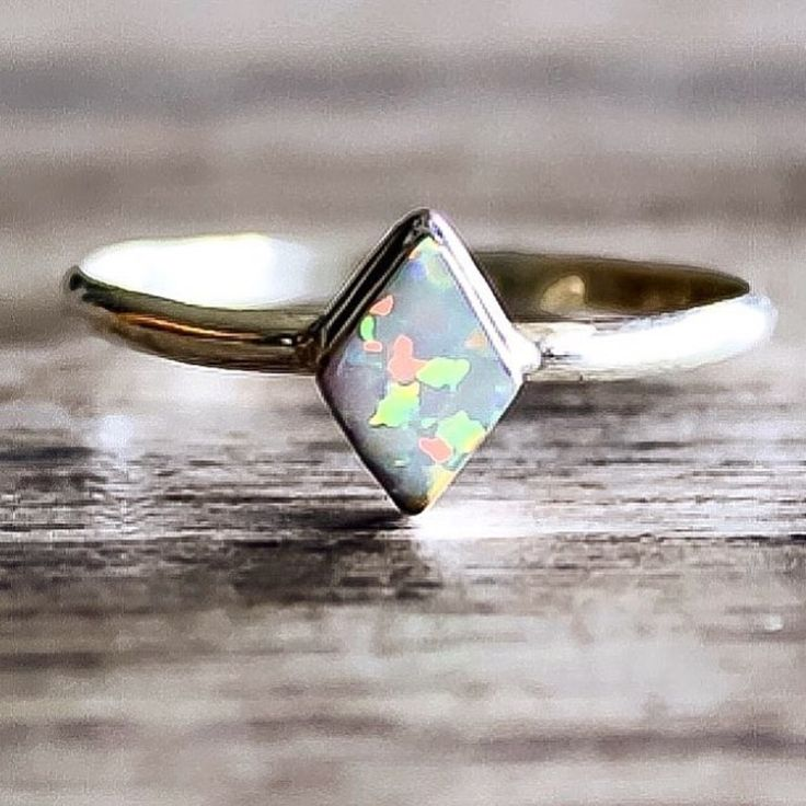 Diamond Shape Navajo Opal Ring    Hand crafted by Navajo Artisans and available in our 'Navajo' Collection    www.indieandharper.com
