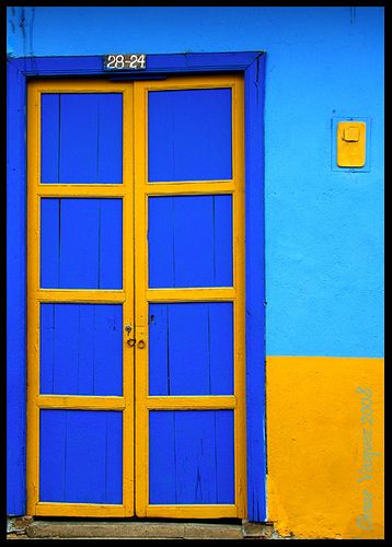 Colorful door in Colombia