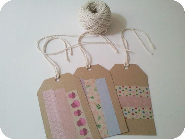 Tutorial: cómo hacer etiquetas decoradas con washi tape.
