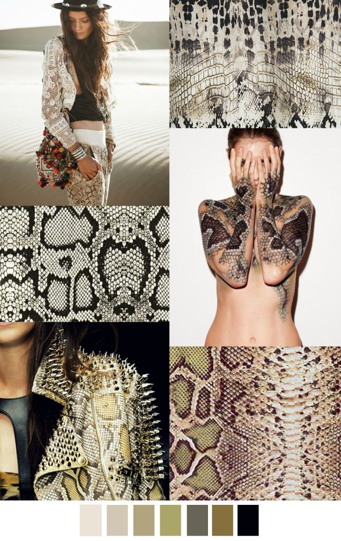 TRENDS // PATTERN CURATOR . PRINT, PATTERN COLOR - SNEAKY SNAKEY WHITE WASH