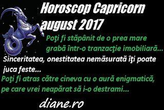 În horoscopul Capricornului august 2017 se pune accentul pe o mai mare precauţie în tranzacţiile imobiliare şi în pregătirea unei călătorii,...