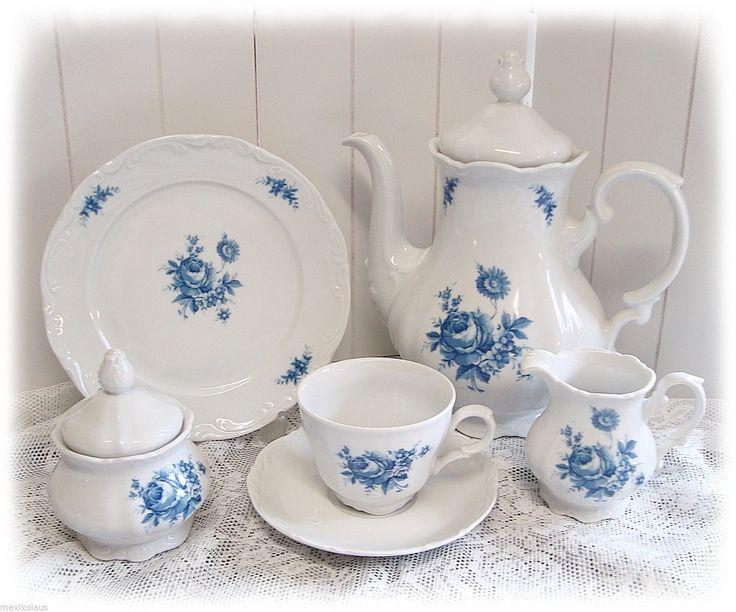 Mitterteich Porzellan - Dekor weiß mit blauen Blumen - diverse Teile zur Auswahl | Möbel & Wohnen, Kochen & Genießen, Gedeckter Tisch | eBay!