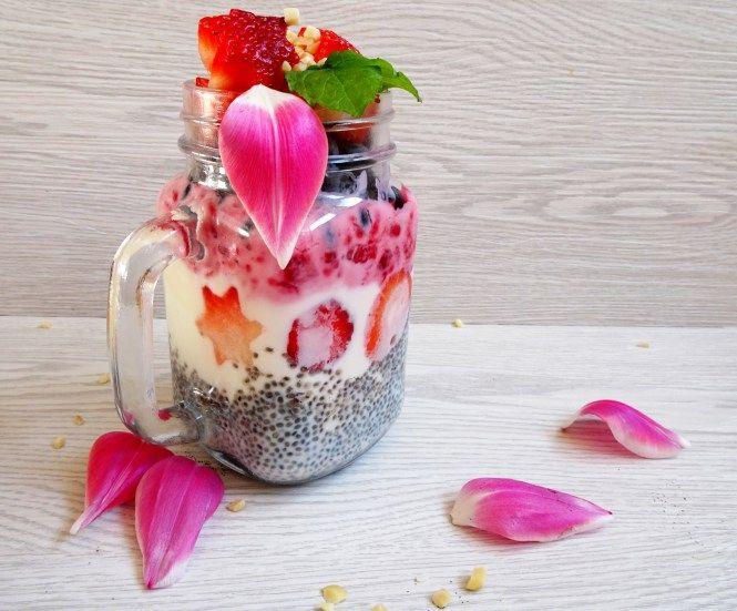 to go chia frucht joghurt himbeere, erdbeere, heidelbeere, healthy, yummy, gesund