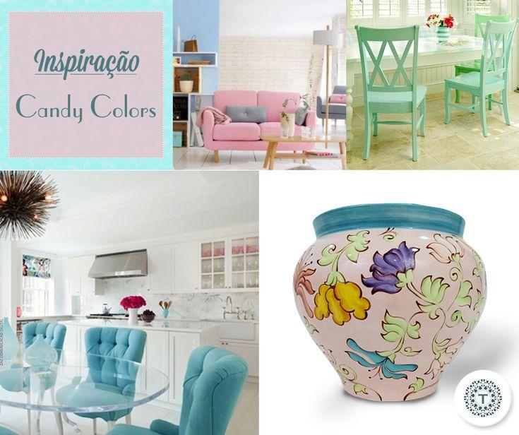 As Candy Colors deixam a cozinha com um visual retrô e romântico. Invista em alguns elementos e deixe seu ambiente mais charmoso! :D