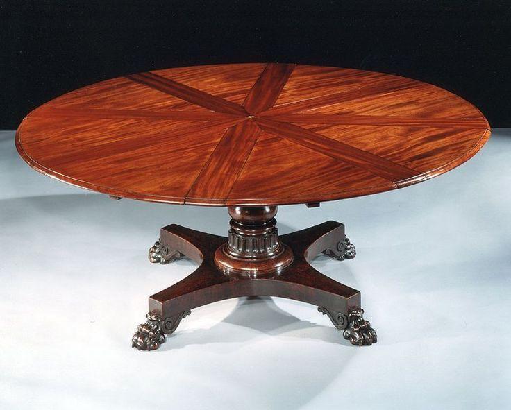 Captivating An Expanding Circular Dining Table By Robert Jupe